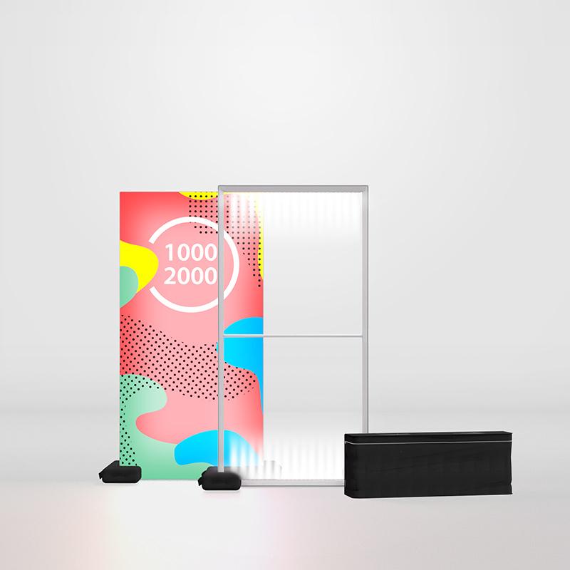 Pixlip Go 100200 Leuchtrahmen Kunststoff Outdoor 1 x 2 m