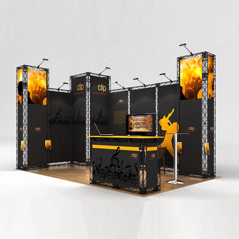 cube10 014 mobiler messestand eckstand traversen messesystem 5 x 3 m seitlich