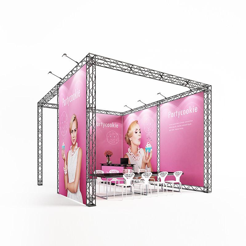 cube20 012 mobiler messestand kopfstand traversen messesystem 6 x 5 m
