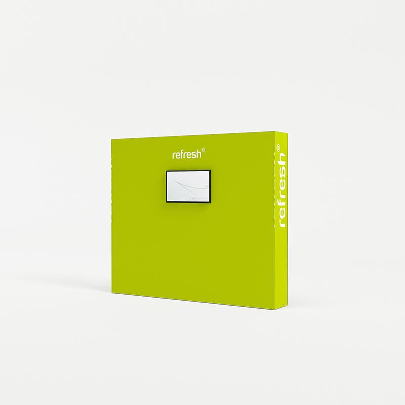 refresh kit 022 messewand mit monitor tv 3 m breite