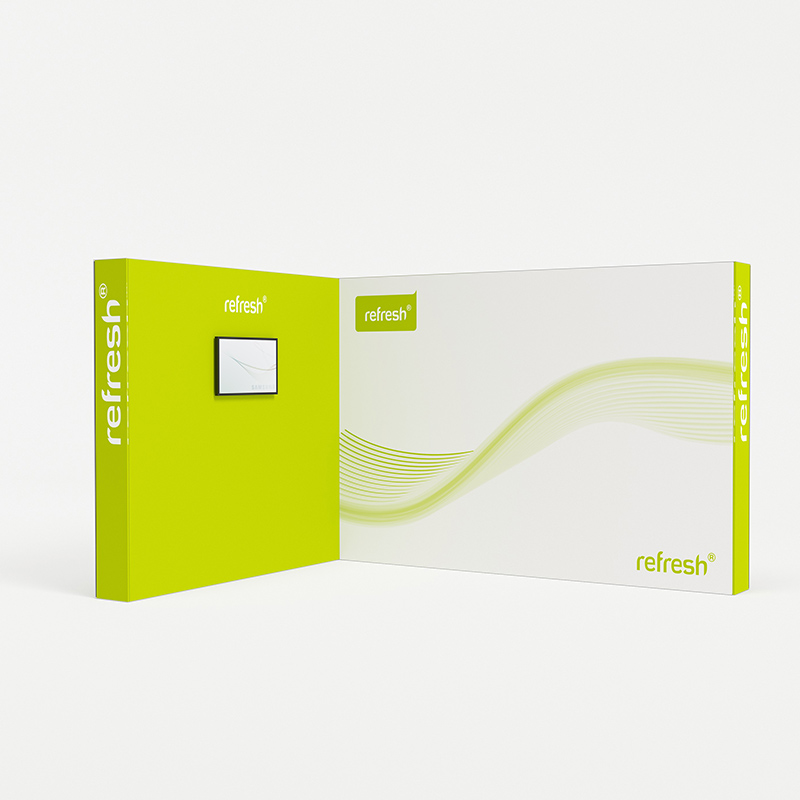refresh kit 028 mobiler messestand eckstand mit monitor tv 4 x 3 m