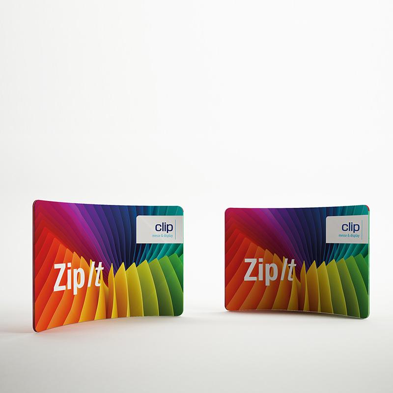 ZipIt Displaywand gebogen