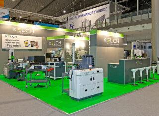 Kelch GmbH, AMB 2014, ca. 40 m² großer Clip Modular Messestand mit Teilgrafiken