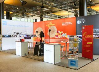 VDI Wissensforum GmbH ConCarExpo 2016, MODULUX Eckstand ca. 8 x 4 m, Höhe: ca. 3 m