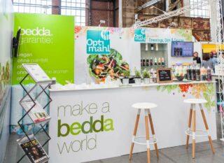 BIGFOOD Produktions GmbH BTL Fachmesse 2017, Clip Modular Eckstand ca. 6 x 5 m, vollflächige Grafik, große Theken