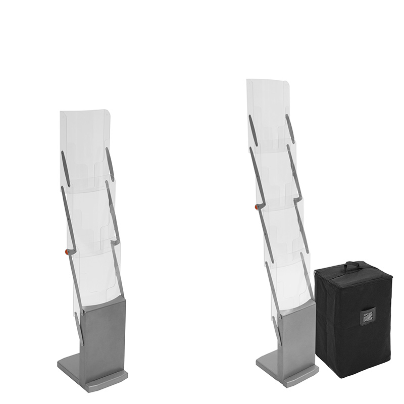 cls prospektständer din a4 aus kunststoff 3 und 4 fächer