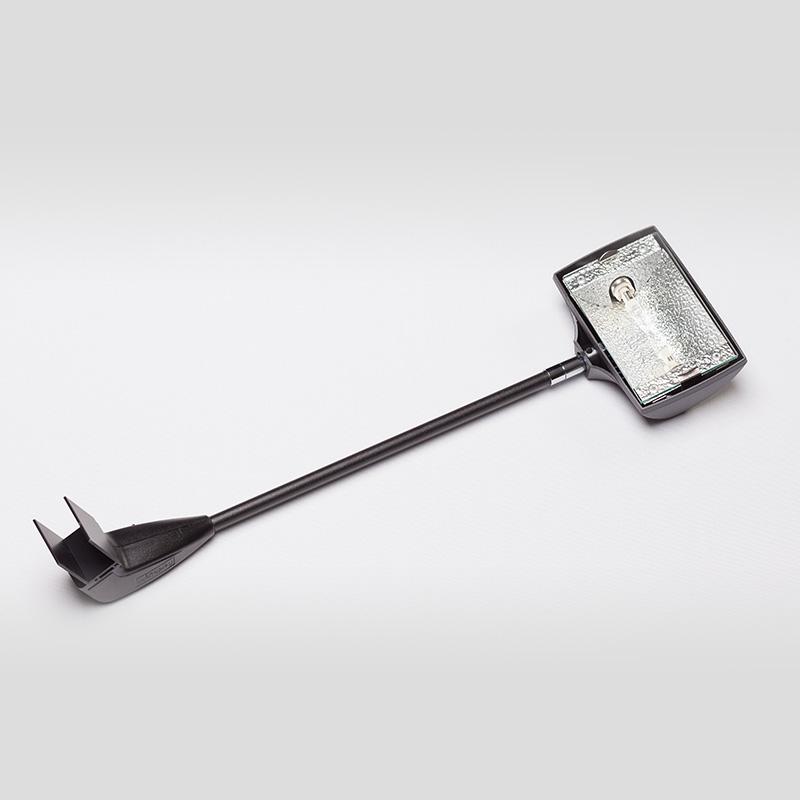 mhla 200 schwarz lampe leuchte halogen strahler