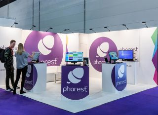 Phorest Salonsoftware, Top Hair 2019, Miet-Messestand ca. 5 x 5 cm, Clip Modular Messesystem mit vollflächiger Grafik