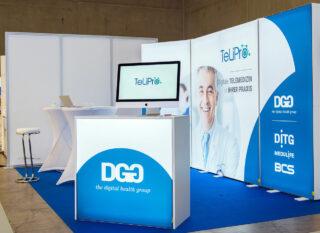 DITG GmbH, DIABETIKER KONGRESS 2019, mobiler Messestand aus PIXLIP GO Leuchtwänden, PIXLIP GO Counter L