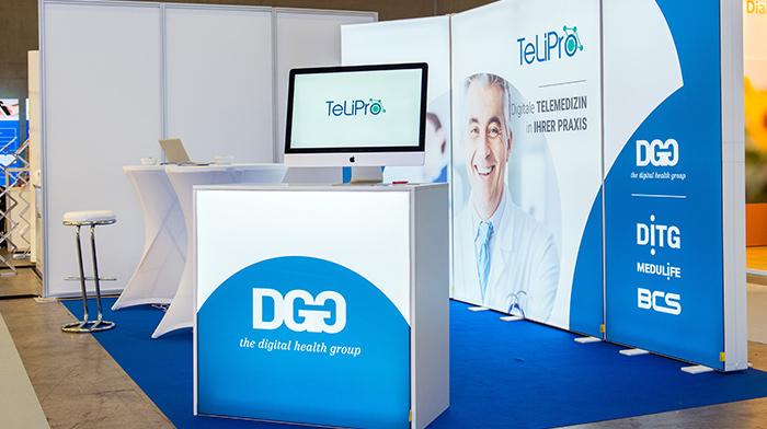 DITG GmbH mobiler messestand mit led hinterleuchtung pixlip go auf dem diabetiker kongress